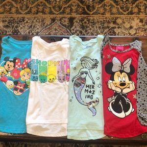 Set of 4  girls T-shirts size 4/5